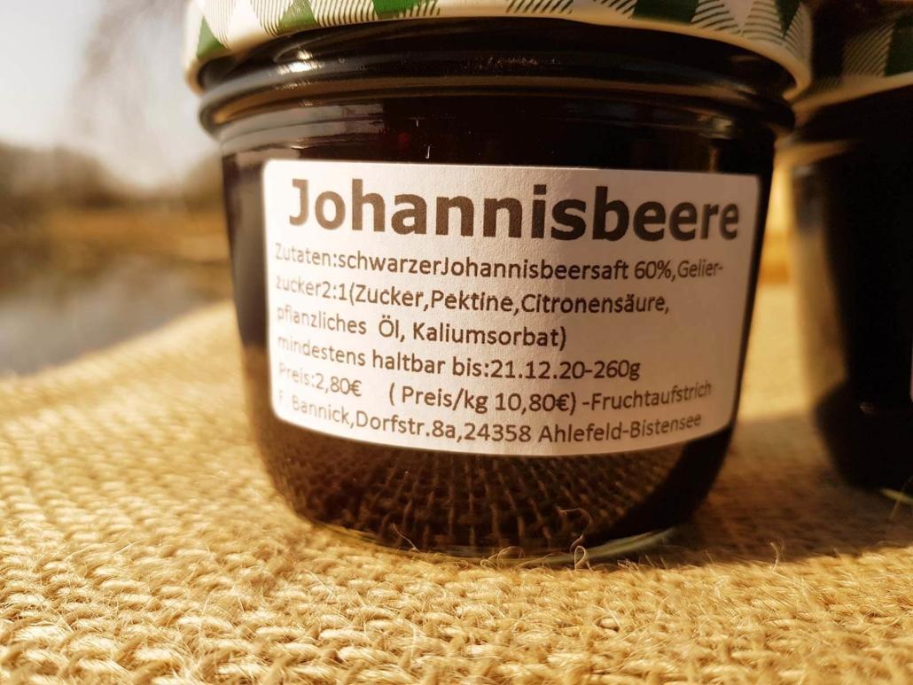 schwarze Johannisbeergelee