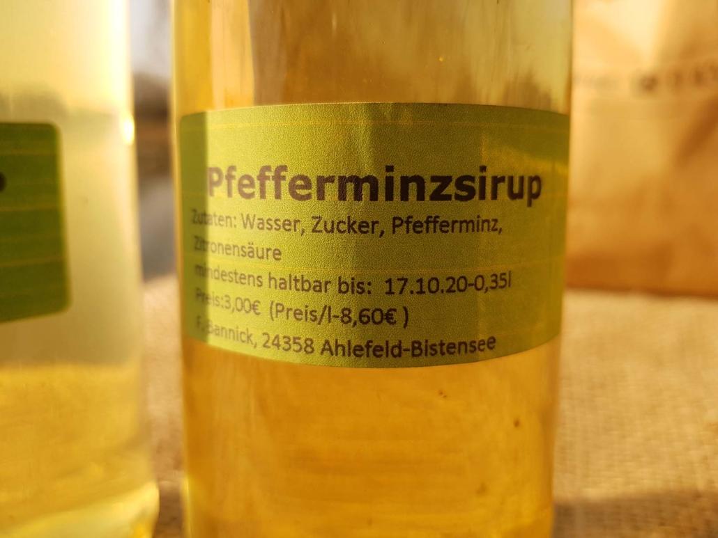Pfefferminzsirup